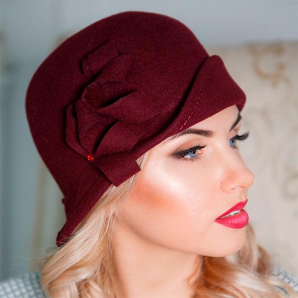 336 Женская фетровая шляпа Оливия