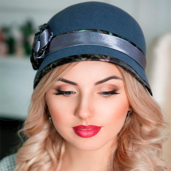 338 Женская фетровая шляпа Оливия