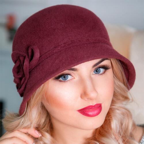 339  Женская фетровая шляпа Оливия