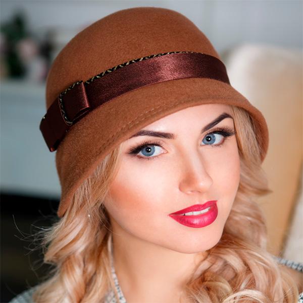 340  Женская фетровая шляпа Оливия