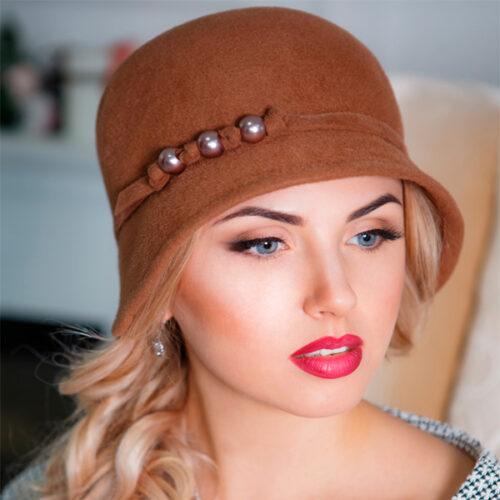 341  Женская фетровая шляпа Оливия