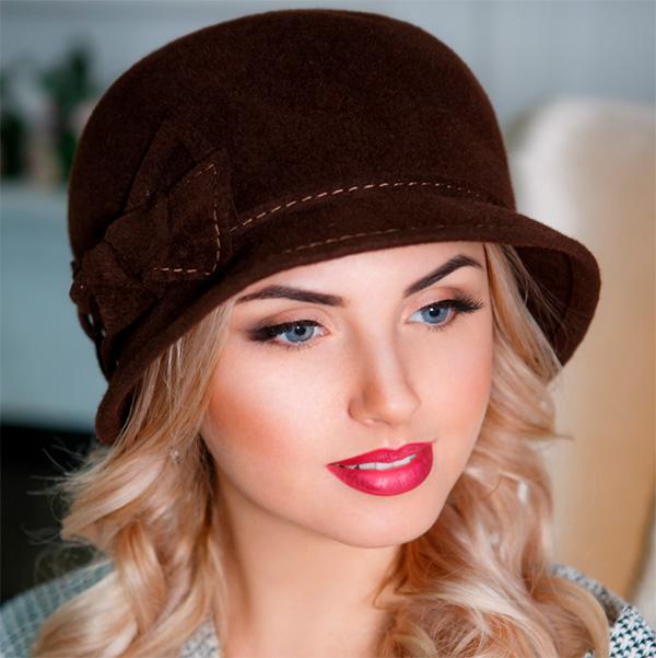 342  Женская фетровая шляпа Оливия