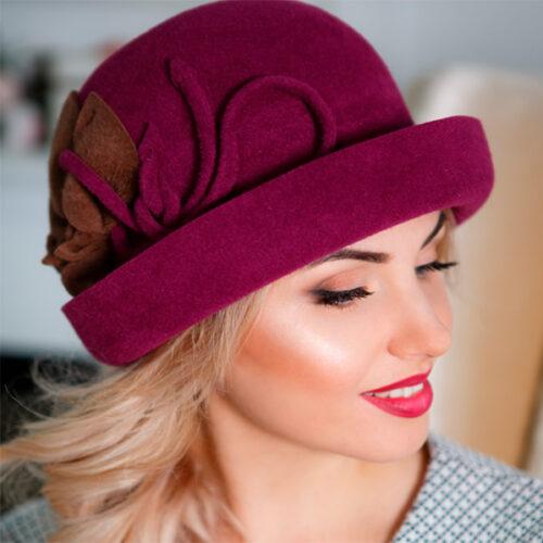 343  Женская фетровая шляпа Оливия