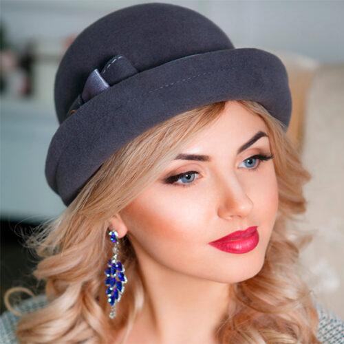 345  Женская фетровая шляпа Оливия