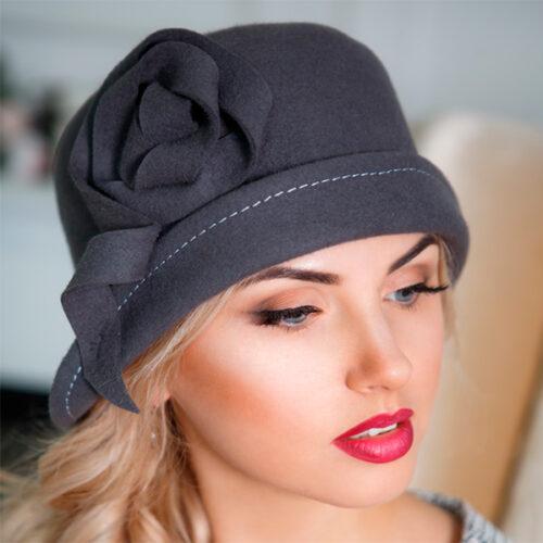 346  Женская фетровая шляпа Оливия