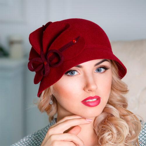 347  Женская фетровая шляпа Оливия