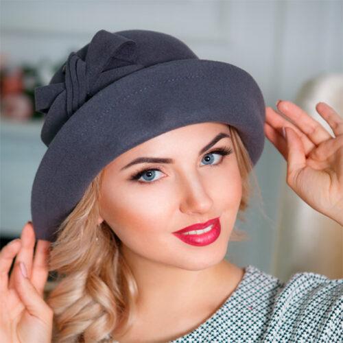 349-1  Женская фетровая шляпа Оливия