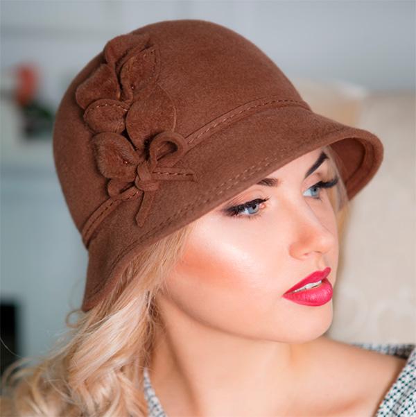 353  Женская фетровая шляпа Оливия
