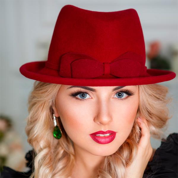 358-1  Женская фетровая шляпа Оливия
