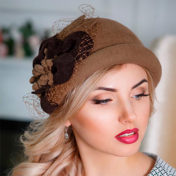 А193-2  Женская фетровая шляпа Оливия