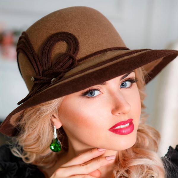 А225-2  Женская фетровая шляпа Оливия