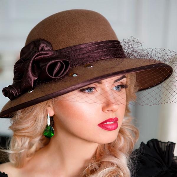А225-3  Женская фетровая шляпа Оливия