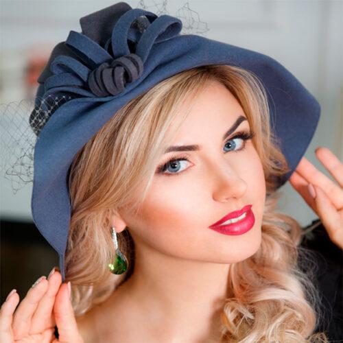 А225-9  Женская фетровая шляпа Оливия