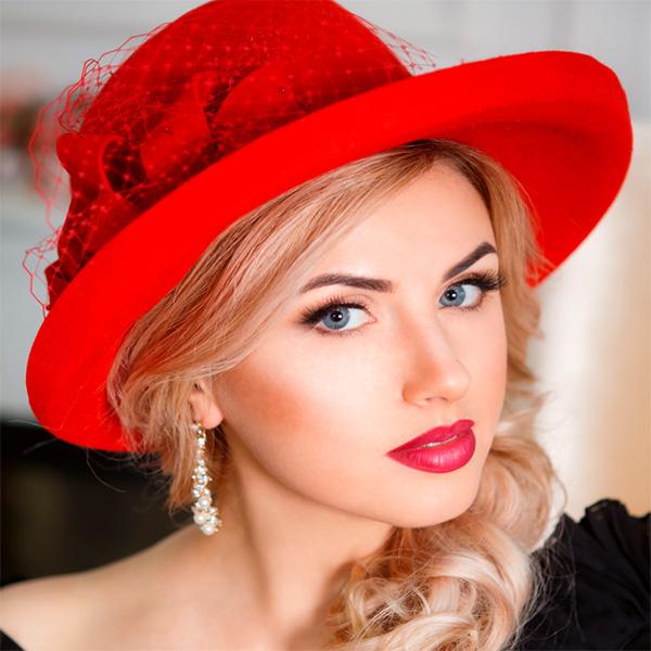 А227-1  Женская фетровая шляпа Оливия