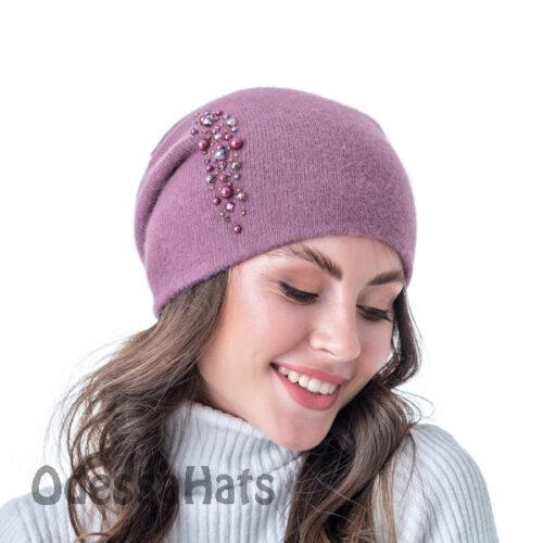 вязаная женская шапка Fans Caps