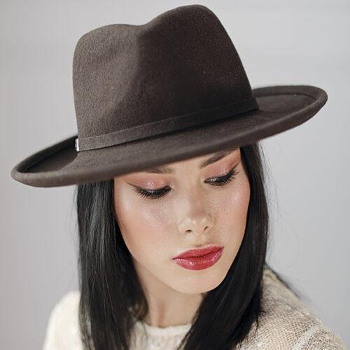 336-1 Женская фетровая шляпа Хелен Лайн