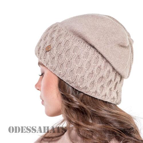 женская вязаная шапка тм Лирус