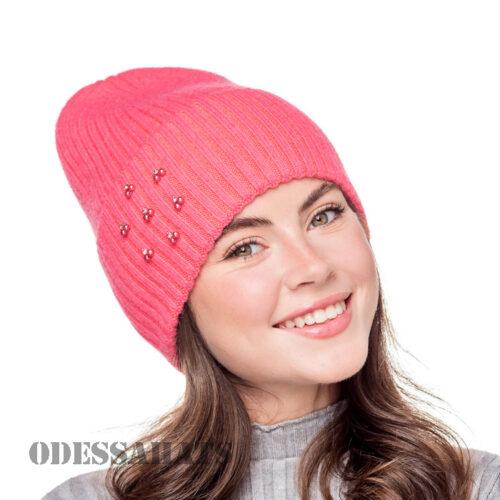 женская вязаная шапка из ангоры Fans Caps