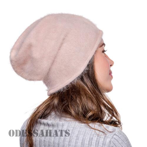 Комплект из ангоры шапка и варежки